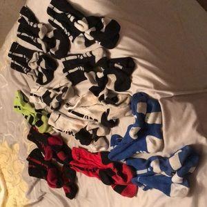 Lot of 13 pair of Nike Elite socks